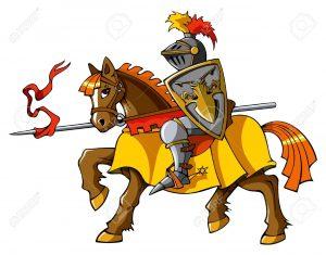 16935444-cavaliere-medievale-a-cavallo-preparazione-giostra-o-lotta-illustrazione-vettoriale